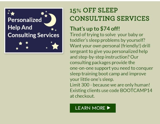 15% OFF Sleep Consulting Services