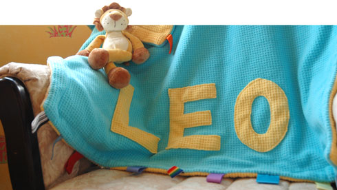 L'il Monkeys Personalized Baby Blanket