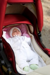 baby sleep in stroller