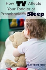 TV and Toddler Preschooler Sleep