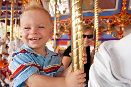 Happy-Boy-On-Carousel