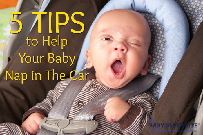 Help baby nap in car