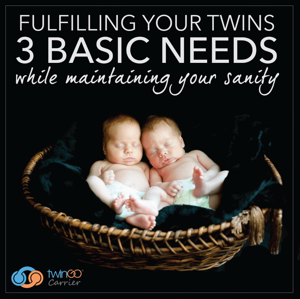 Fulfilling your twins 3 basic needs—Eat, Sleep & Touch—while maintaining your sanity