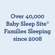 Over 40,000 Baby Sleep Site Families Sleeping since 2008